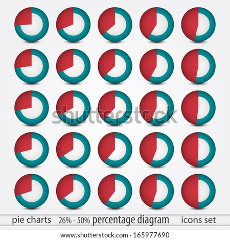 new collection of circular chart elements can use like presentation icons - stock vector