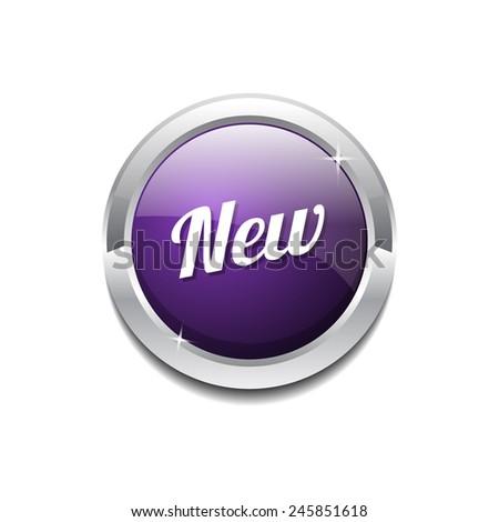 New Collection Purple Circular Vector Button - stock vector