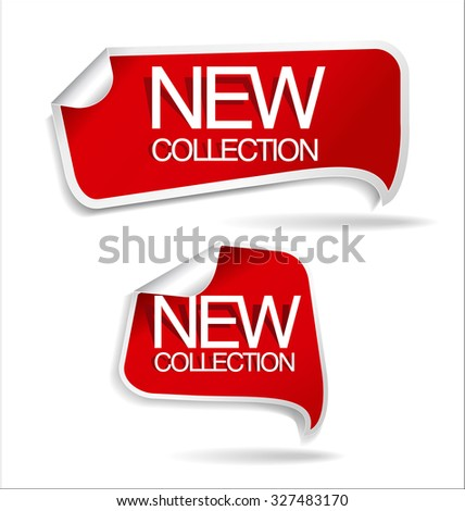 New collection sticker - stock vector