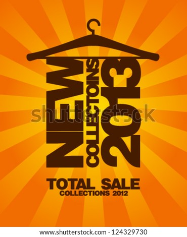New collections 2013 design template. - stock vector
