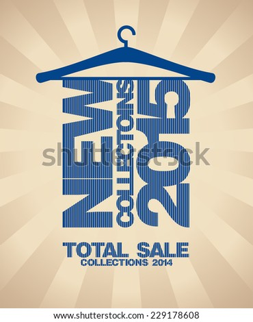 New collections 2015 fashion banner. - stock vector