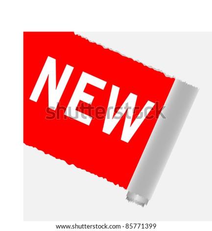 New corner tab or banner - stock vector