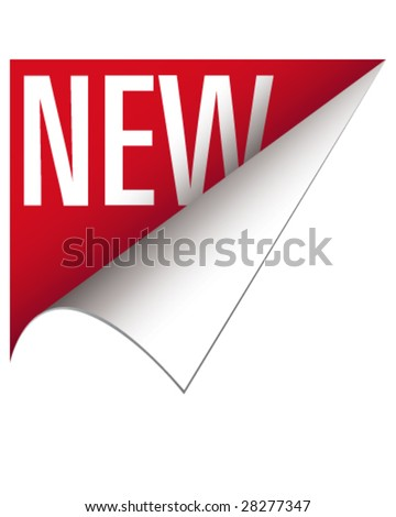 New corner tab or banner for food items and products - stock vector