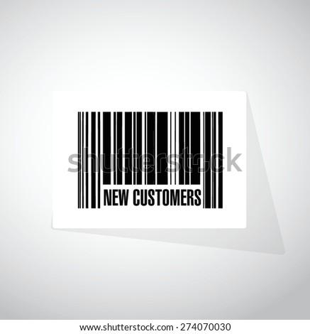 new customer bar code sign concept illustration design over white - stock vector