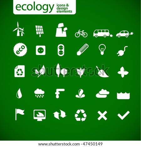 new ecology icons - stock vector