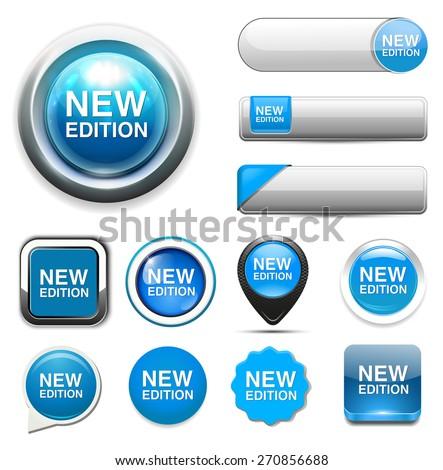 New Edition button - stock vector