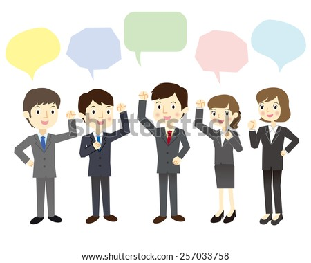 New employees who fired up - stock vector