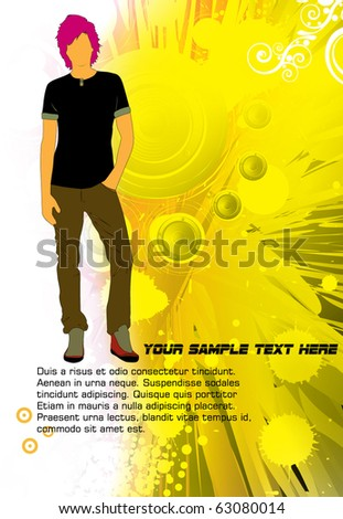 New fashion man - stock vector