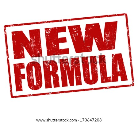 New formula grunge rubber stamp on white, vector illustration - stock vector