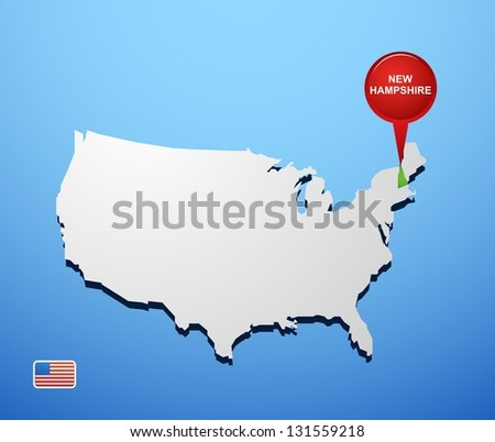 New Hampshire Map Stock Photos RoyaltyFree Images Vectors - New hampsire on us map