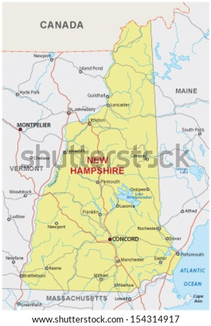 New Hampshire State Map Stock Images RoyaltyFree Images - Road map of new hampshire