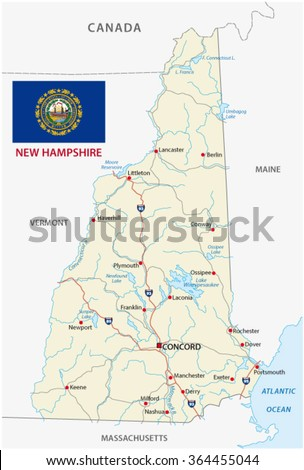 New Hampshire Stock Images RoyaltyFree Images Vectors - Road map of new hampshire