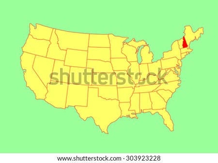 New Hampshire Map Stock Photos RoyaltyFree Images Vectors - New hampshire on us map
