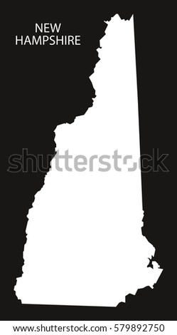 New Hampshire State Map Stock Images RoyaltyFree Images - New hampshire on map of usa