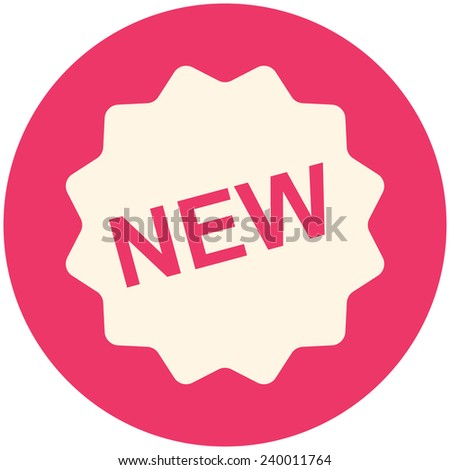 New icon, modern flat design - stock vector