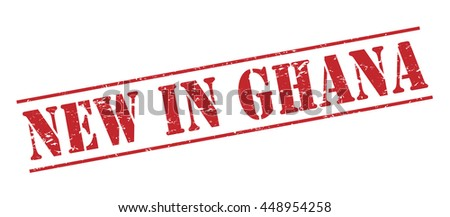 new in ghana vector stamp on white background