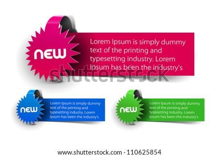 new label design. - stock vector