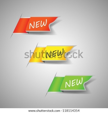 New Labels - stock vector