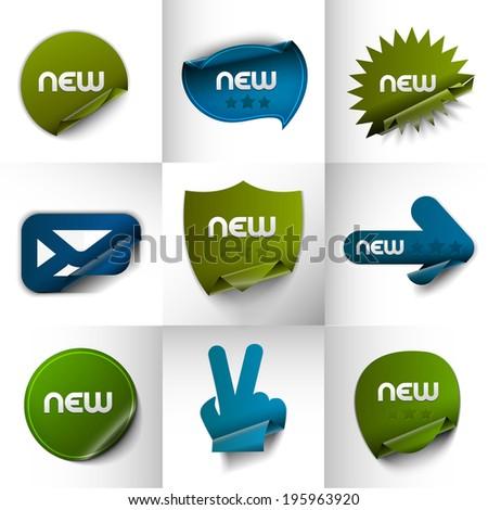 New labels, tag, sticker design element . Vector.  - stock vector