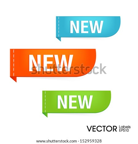 New labels Vector - stock vector