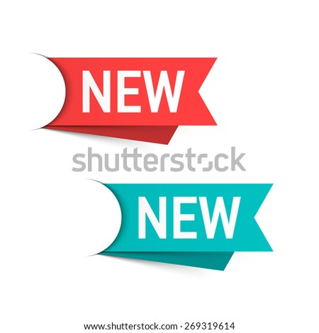 New labels vector illustration - stock vector