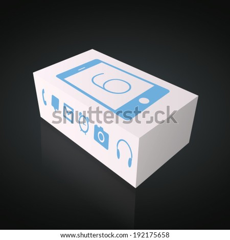 New / Latest Smartphone Box - Vector EPS 10 - stock vector