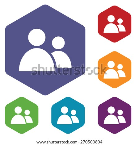 New leader rhombus icons set in different colors. Vector Illustration - stock vector