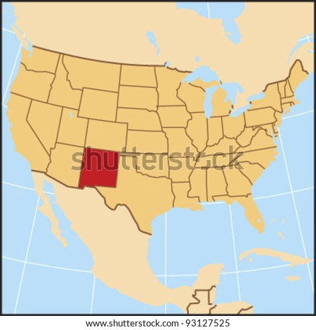 New Mexico Locate Map