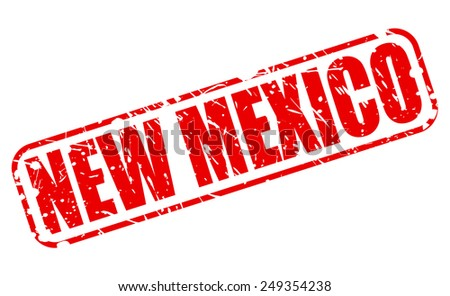 New Mexico red stamp text on white - stock vector