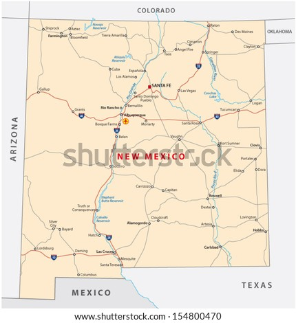 Colorado Road Map Stock Images RoyaltyFree Images Vectors - Road map of nm