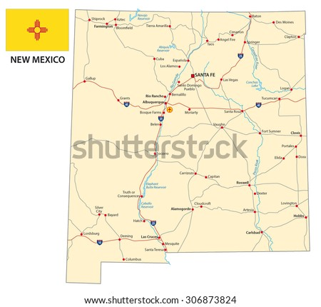 New Mexico Map Stock Images RoyaltyFree Images Vectors - Nm road map
