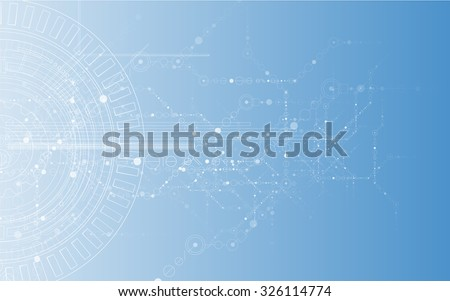 New Model of Technology Business Background - stock vector