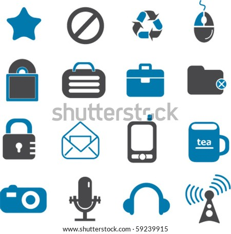 new office signs set #1. vector - stock vector