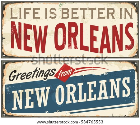 New orleans florida retro tin sign stock vector 534765553 shutterstock new orleans florida retro tin sign design on old rusty background usa cities vintage set m4hsunfo
