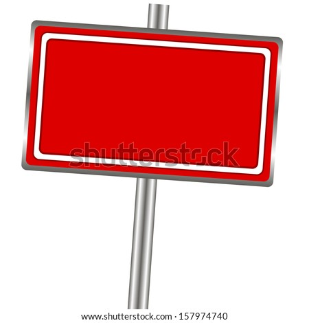 New outdoor billboard banner on a white background - stock vector