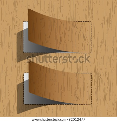 New paper sheet wooden pattern. - stock vector