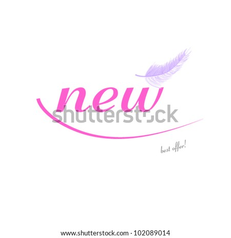 new pink! - stock vector