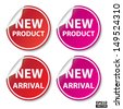 New product and New arrival Stickers, Tag, Label, Signs, Icon Set.-eps10 vector - stock