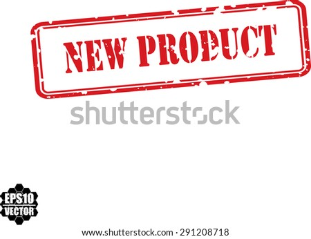 New product grunge rubber stamp on white background. Vector - stock vector