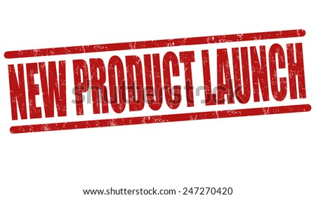 New product launch grunge rubber stamp on white background, vector illustration - stock vector
