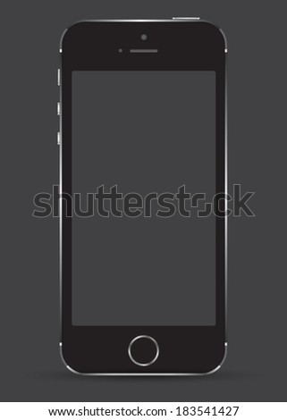 New realistic mobile phone smartphone mockup with blank screen. Can use for object website and printing element.