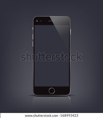 New realistic smartphone mockup with blank screen isolated. Vector illustration. for printing and web element, Game and application mockup.