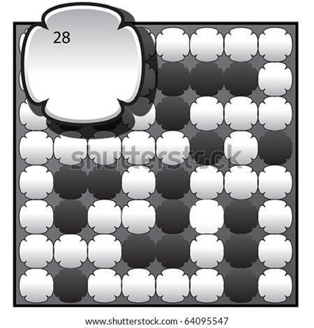 New round style crossword puzzle grid. - stock vector