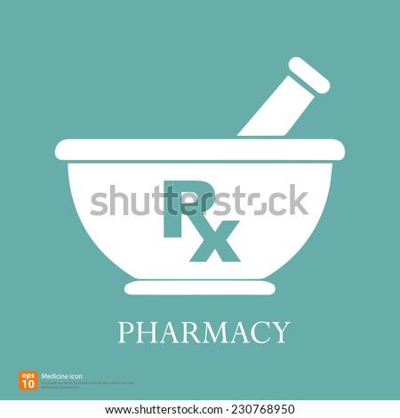 New Rx medical medicine sign vector - stock vector