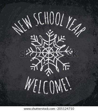 New school year. Vector illustration - stock vector