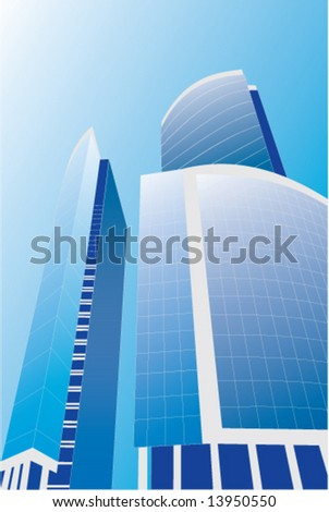 New skyscrapers business centre  vector illustration