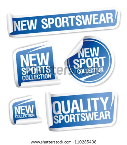 New sportswear collection stickers set.