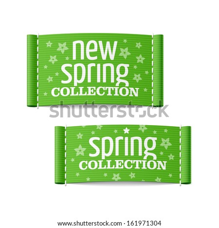 New spring collection clothing labels. Vector. - stock vector