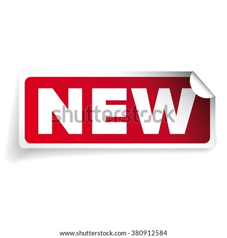 New sticker label vector - stock vector