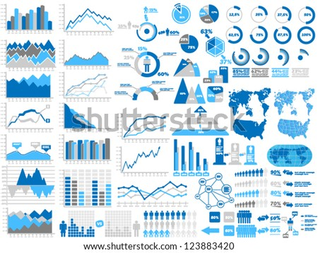 NEW STYLE WEB ELEMENTS INFOGRAPHIC DEMOGRAPHIC - stock vector
